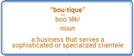 boutique definition